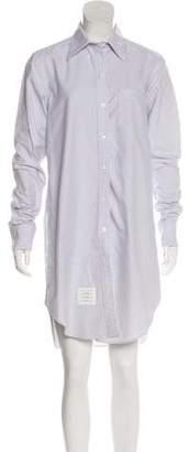 Thom Browne Striped Long Sleeve Shirtdress