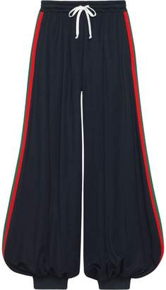 Gucci Technical jersey pants with Web