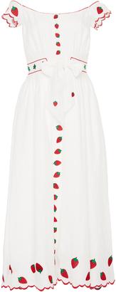 Gl Hrgel Strawberry Embroidered Dress
