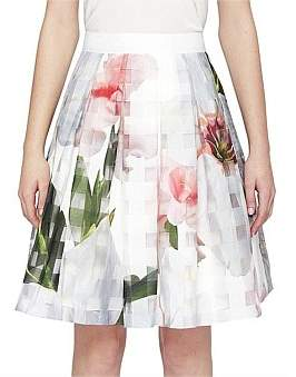 Ted Baker Vanta Floral Skater Skirt