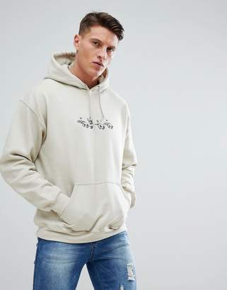 New Love Club Hand Signs Embroidered Hoodie