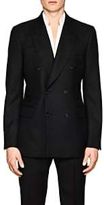 Alexander McQueen MEN'S DETACHABLE-COLLAR WOOL-MOHAIR DOUBLE-BREASTED SPORTCOAT