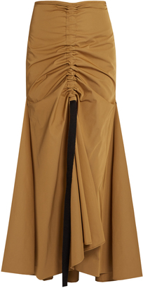 Doll-Face ruched-front maxi skirt