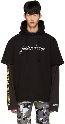 Vetements Black 'Justin Forever' Double Sleeve Hoodie $1,385 thestylecure.com