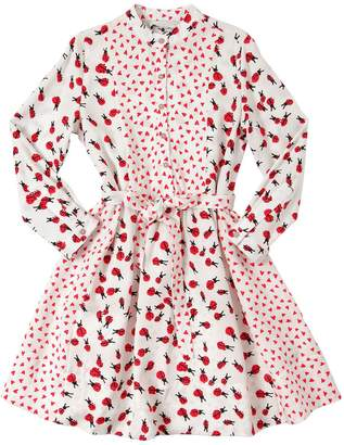 Stella McCartney Hearts & Ladybugs Print Viscose Dress