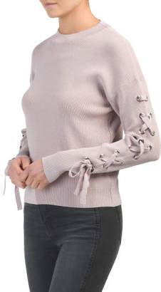 Lace Up Arm Sweater
