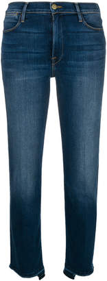 Frame stretch high-waist released jeans
