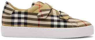 Burberry Beige Alexandra Check Sneakers