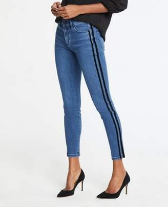 Ann Taylor Tall Modern Velvet Side Stripe All Day Skinny Jeans