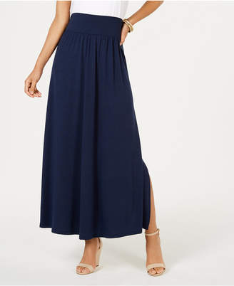Style&Co. Style & Co Side-Slit Maxi Skirt, Created for Macy's