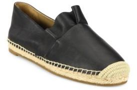 Michael Kors Collection Laticia Ruffled Leather Espadrilles