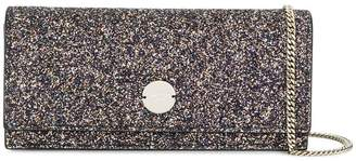 Jimmy Choo Fie glitter clutch bag