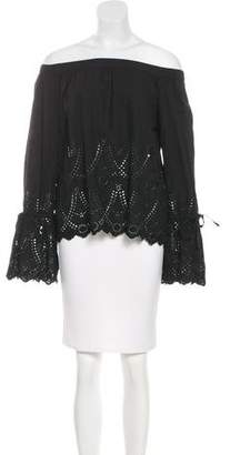 Trovata Birds of Paradis by Off-The-Shoulder Eyelet Top