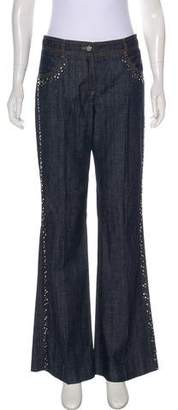 Chloé Mid-Rise Embellished Jeans