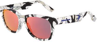 McQ Round Plastic Sunglasses