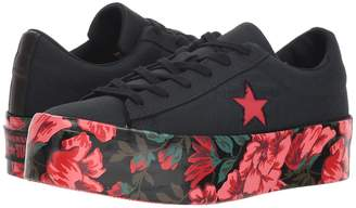 Converse One Star Platform Floral Ox Women's Shoes