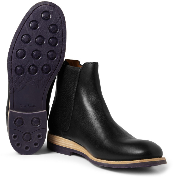 Paul Smith Rubber-Soled Leather Chelsea Boots