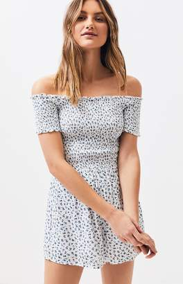 14da7ee90a0e Lottie Moss Smocked Off-The-Shoulder Romper