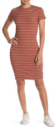 Cotton On Giselle Body Con Stripe Ribbed Dress