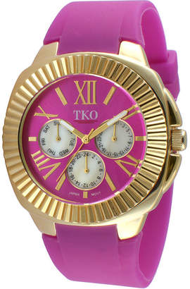 JCPenney TKO ORLOGI Womens Purple Silicone Strap Sport Watch