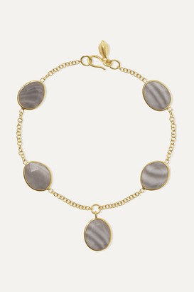 Pippa Small 18-karat Gold Agate Bracelet