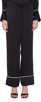 Asceno Black Silk Pajama Pant