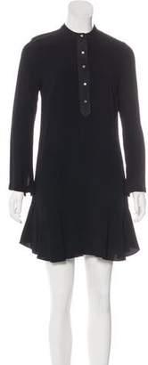 A.L.C. Suede Trim Knee-Length Dress