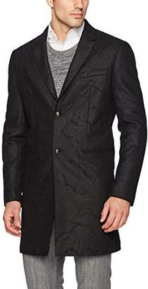 John Varvatos Men's Peak Lapel Over Coat
