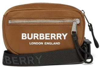 Burberry Logo Print Belt Bag - Mens - Camel