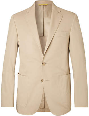Canali Sand Kei Slim-Fit Stretch-Cotton Suit Jacket