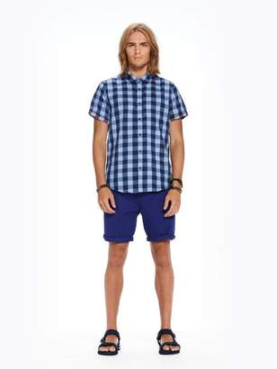 Scotch & Soda Checked Short Sleeved Shirt