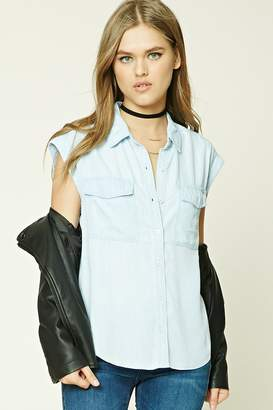 FOREVER 21+ Striped Chambray Shirt $24.90 thestylecure.com