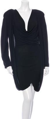 Jean Paul Gaultier Long Sleeve Drape Dress $75 thestylecure.com