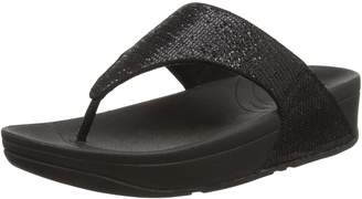 FitFlop Womens Lulu Superglitz Synthetic Sandals 8 US