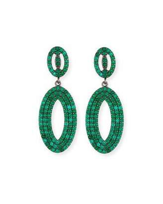 Margo Morrison Green Onyx Loop Earrings