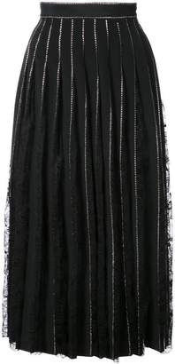 ADAM by Adam Lippes crystal embellished pleated skirt