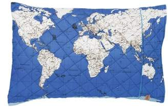 Kip&Co Globe Trotter Quilted Cotton Pillowcase