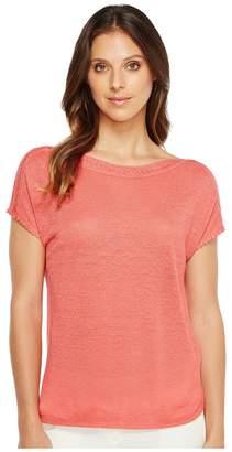 Nic+Zoe Crochet Trim Tee Women's T Shirt