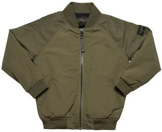 Finger In The Nose Nylon Canvas Bomber Jacket