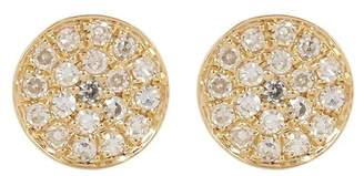 Ron Hami 14K Gold Micro Pave Diamond Circular Stud Earrings - 0.07 ctw