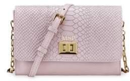 GiGi New York Women's Catherine Snake-Embossed Leather Crossbody Bag - Petal Pink