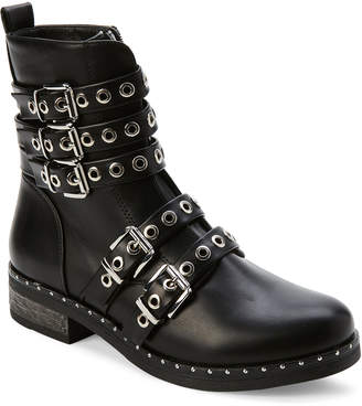 Wild Diva Black Andon Grommeted Moto Boots