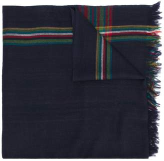 Paul Smith check printed scarf