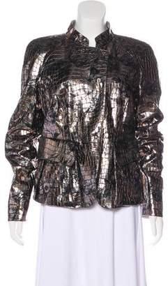 Giorgio Armani Metallic Leather Jacket