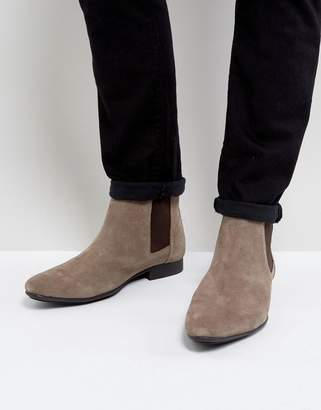 Frank Wright Chelsea Boots Beige Suede
