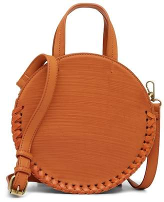 Street Level Whipstitched Round Crossbody Bag