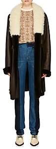 Chloé Women's Reversible Leather & Fur Coat - Dk. brown