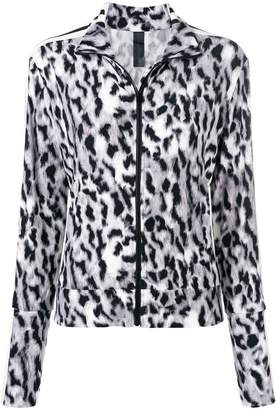 Norma Kamali leopard print sports jacket