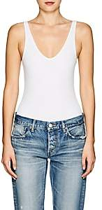 ATM Anthony Thomas Melillo Women's Rib-Knit Sleeveless Bodysuit - White