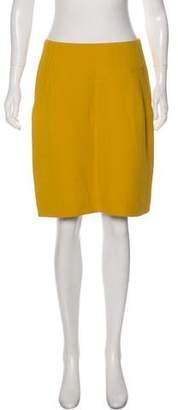 Oscar de la Renta Silk & Wool-Blend Knee-Length Skirt